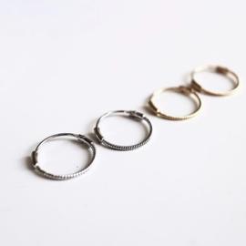 Twisted hoops 15MM - echt zilver