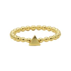 Ring triangel - echt zilver
