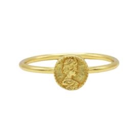Ring coin - echt zilver