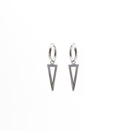Long triangle - echt zilver