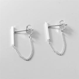 Chain bar short - echt zilver