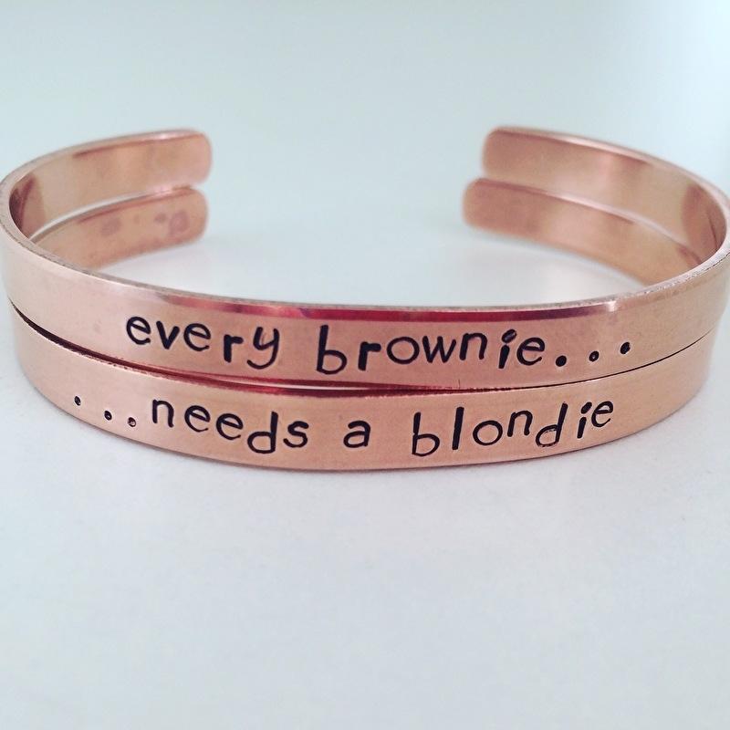 Every brownie needs a blondie