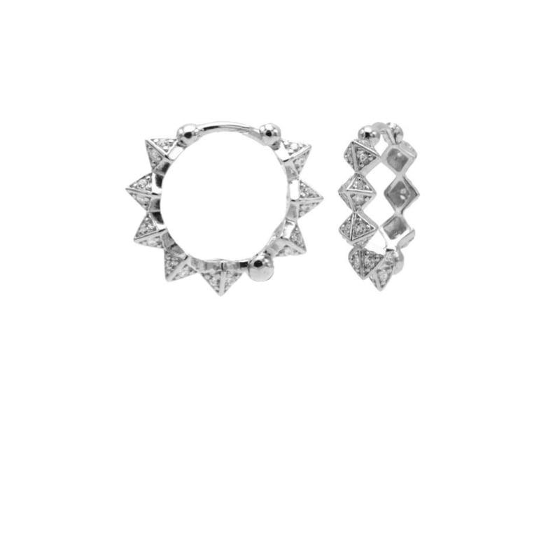 Spike diamonds 15MM- echt zilver