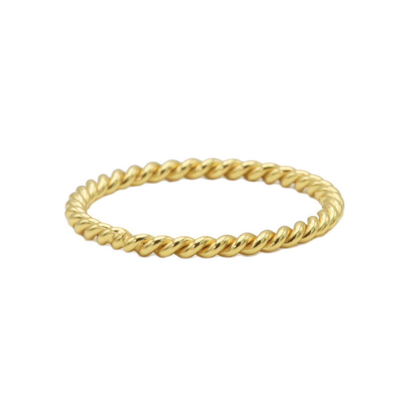 Ring twisted - echt zilver