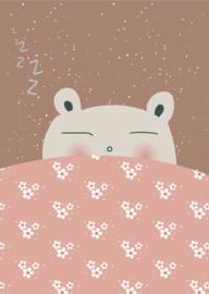 Poster Slaap Lekker A4 roze