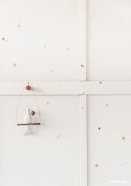 Muurstickers Confetti Terra-poederroze
