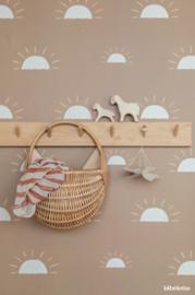 Behang Ochtendgloren - mosterd