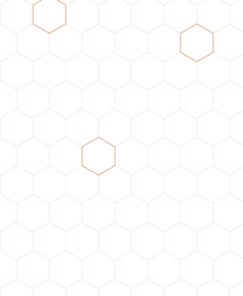 Wallpaper Honeycomb nude/copper