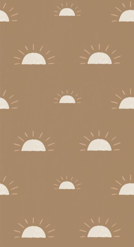 Behang Ochtendgloren - bruin
