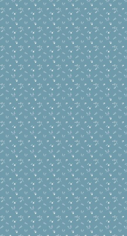Behang Bloemenzee mini - blauw