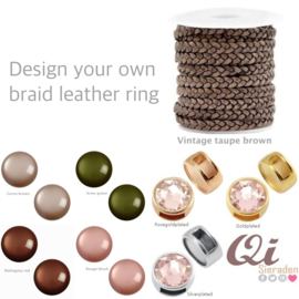 Design your own braid leather ring