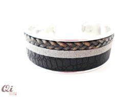 Armband 'black croco'