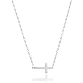 Ketting 'stainless steel cross'