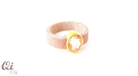 Ring 'old rose Swarovski'