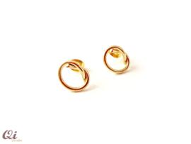 DQ metaal oorstekers 'knoop'