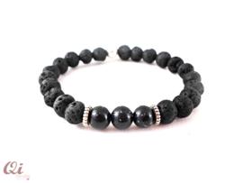 Armband 'black lava'