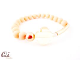 Armband 'peach clover'