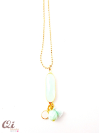 Ketting 'turquoise gold'