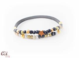 Armbandje 'blue beads'