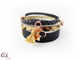 Armband 'black brown panter'