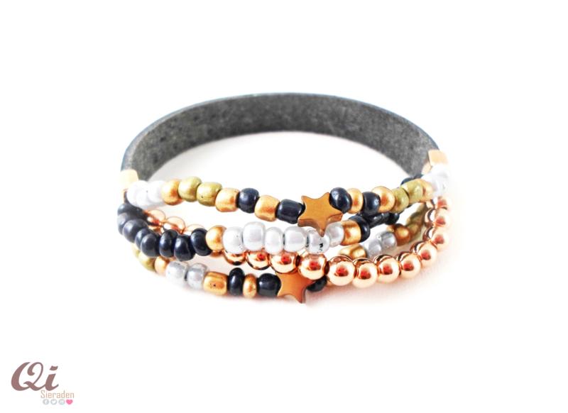 Armband 'blue beads'