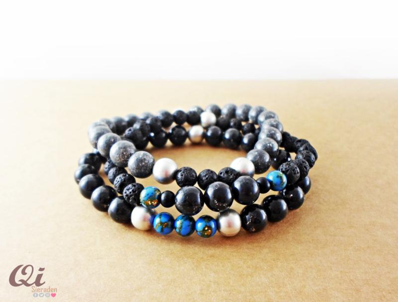 Men's bracelet combo 'royal blue'