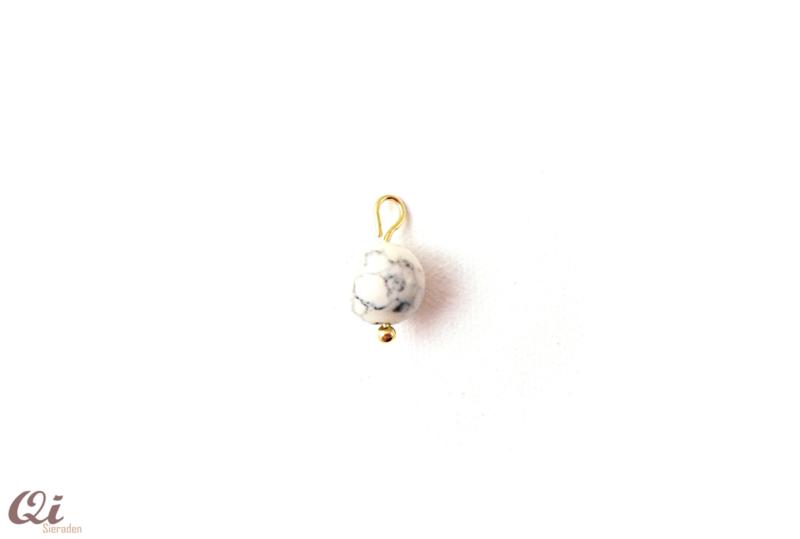 Hanger 'marmer glaskraal' (1 st)