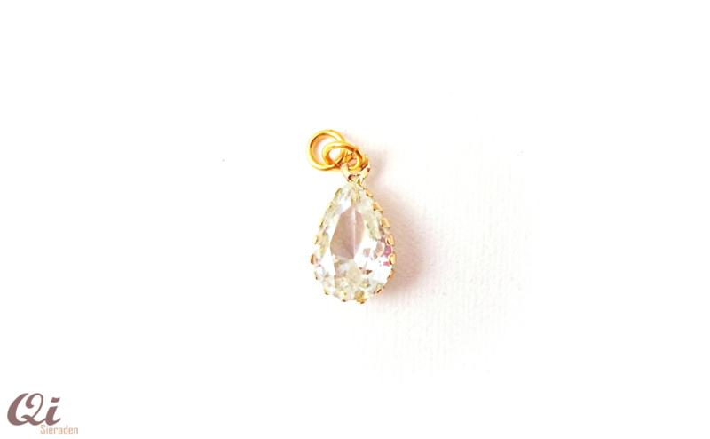 Hanger  druppel 'Crystal gold' (1 st)