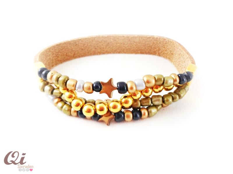 Armband 'cognac beads'