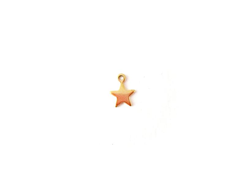 Hanger goldplated 'ster' (1 st)