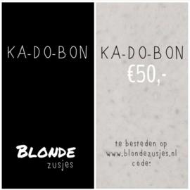 Kadobon €50,-