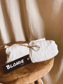 Aankleedkussenhoes offwhite wafel badstof