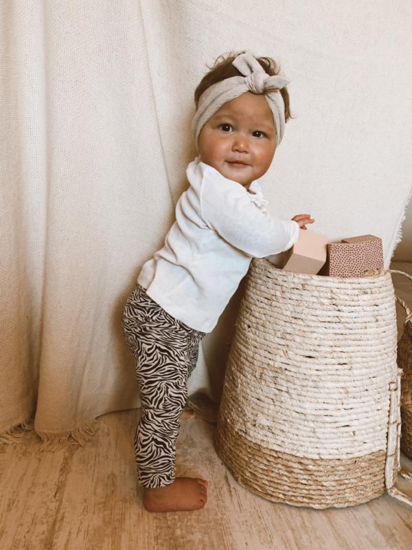Newborn legging zebra jersey