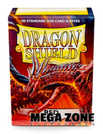 Dragon Shield 100 Standard Matte Sleeves - Red
