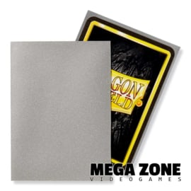Dragon Shield 100 Standard Matte Sleeves - Silver