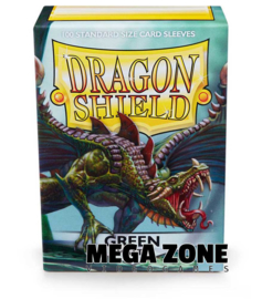 Dragon Shield 100 Standard Matte Sleeves - Green