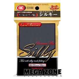 KMC 50 Premium Mat Silky Black Sleeves