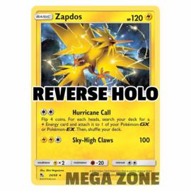 Zapdos - 24/68 - Holo Rare - Reverse Holo