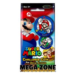 Super Mario Challenge Coin plus Decal Sticker