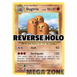 Dugtrio - 56/108 - Rare - Reverse Holo