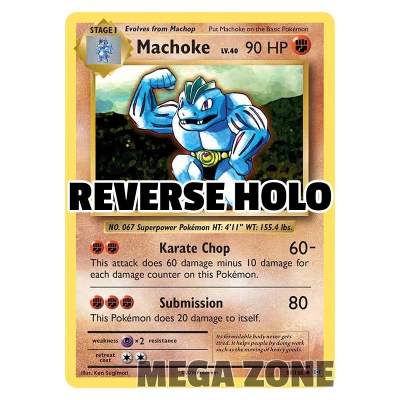 Machoke - 58/108 - Uncommon - Reverse Holo