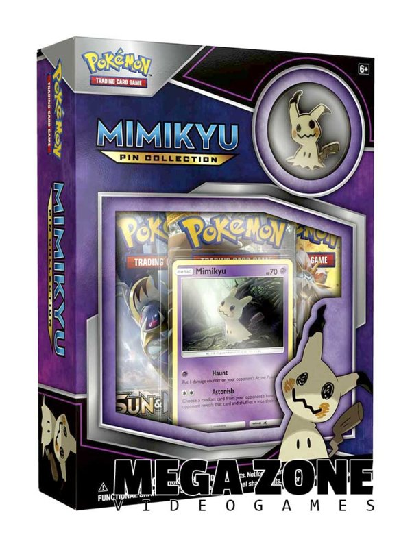 Mimikyu Pin Collection Box Pokemon Trading Cards 3 Booster Packs Promo IN STOCK!
