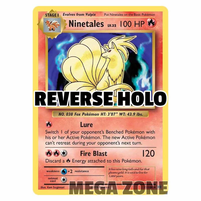 Ninetales - 15/108 - Holo Rare - Reverse Holo
