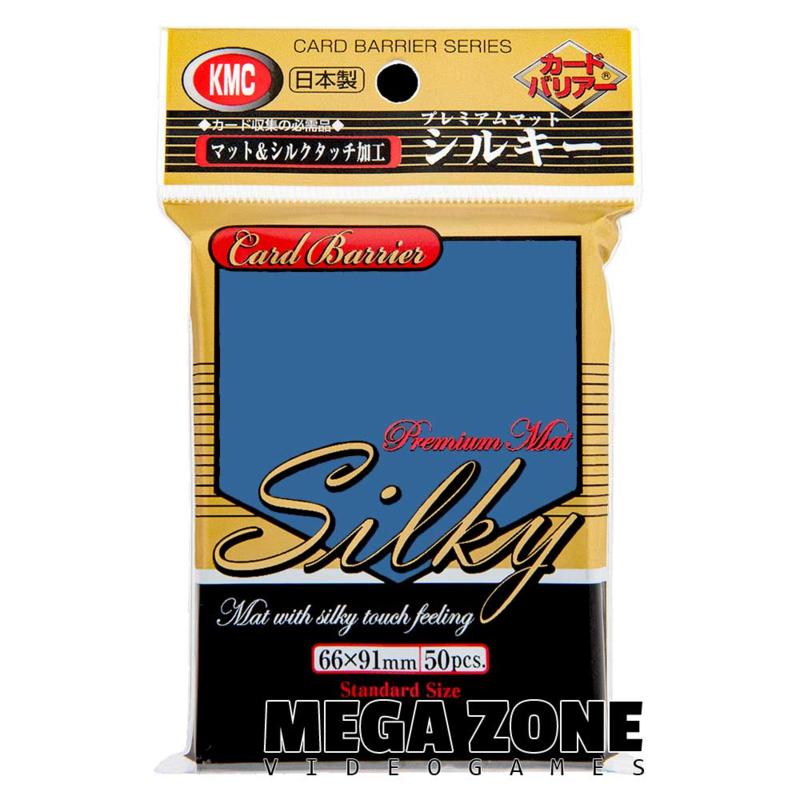 KMC 50 Premium Mat Silky Blue Sleeves