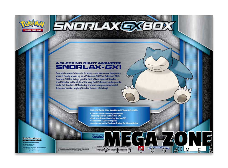 Snorlax GX Box Card Game Pokemon TCG