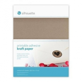 Silhouette printbaar kraft sticker papier