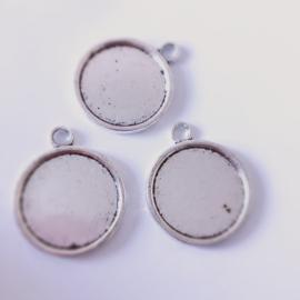 Setting Antiek zilver enkel zijdig 20 mm