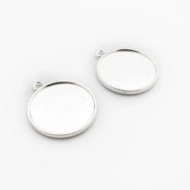 Setting Silver tone 20 mm dubbel