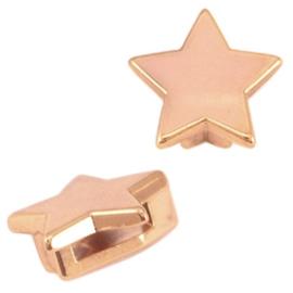 DQ metaal Cuoio/Love Crystal slider ster Rosé goud
