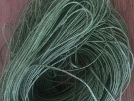 Waxkoord groen  1 mm